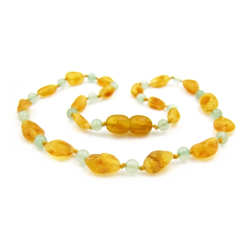 Amber & Aventurine Teething Necklace 292