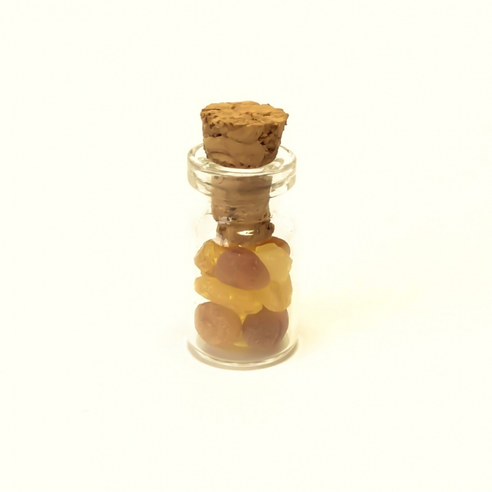 Baltic amber in a bottle 1