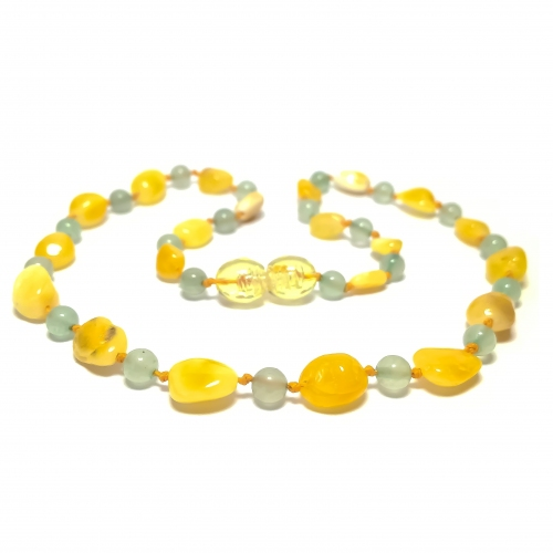 Amber & Aventurine Teething Necklace 287