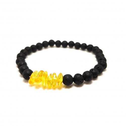Amber & Lava Bracelet 921