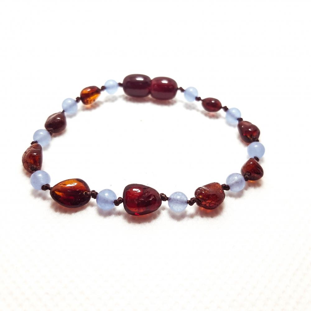 Amber & Chalcedony Teething Bracelet 509
