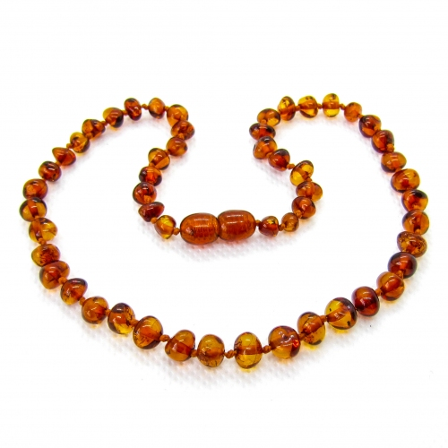 Baroque Amber Teething Necklace TNBaP003