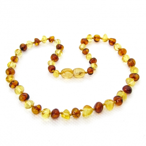 Baroque Amber Teething Necklace TNBaP008