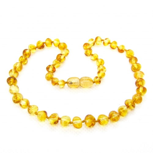 Baroque Amber Teething Necklace TNBaP002