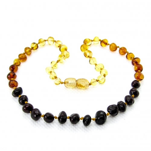 Baroque Amber Teething Necklace TNBaP007