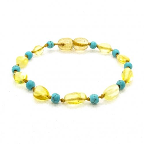 Amber & Turquoises Teething Bracelet