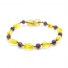 Amber & Purple Amethysts Teething Bracelet 5042
