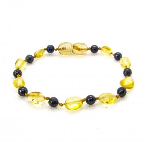 Amber & Lapis Lazuli Teething Bracelet 5043