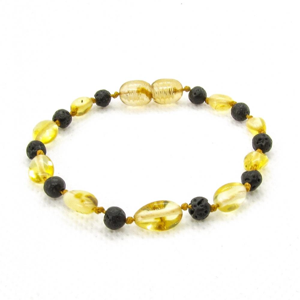 Amber & Lava Teething Bracelet 5044