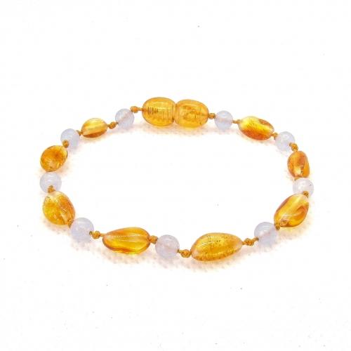 Amber & Chalcedony Teething Bracelet 510
