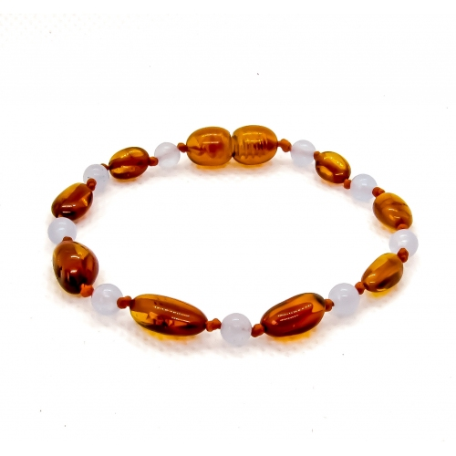 Amber & Chalcedony Teething Bracelet 508