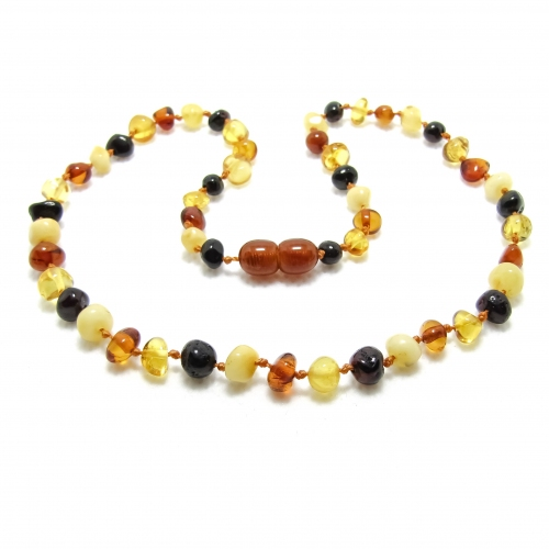 Baroque Amber Teething Necklace TNBaP006