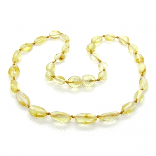 Amber Teething Necklace TNBeP001
