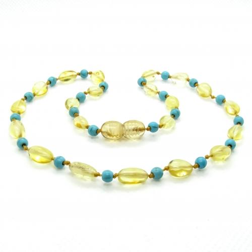 Amber & Turquoises Teething Necklace 305