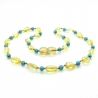 Amber & Turquoises Teething Necklace 305