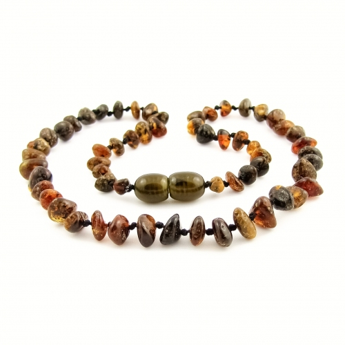 Amber Teething Necklace TNNuP012