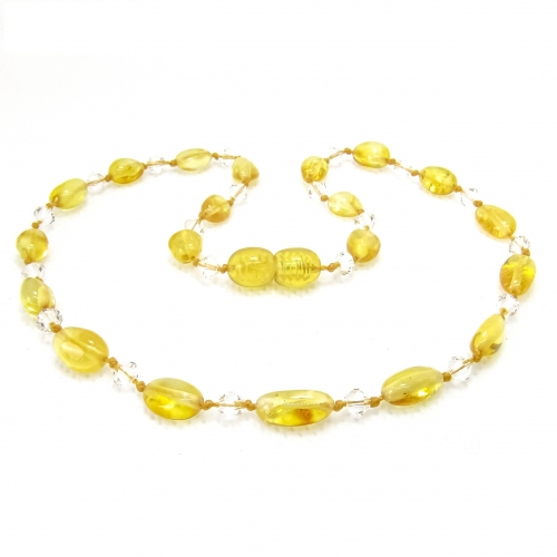 Amber Teething Necklace TNBeP114