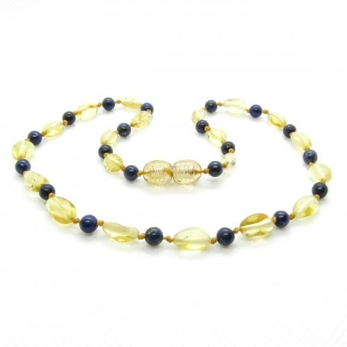 Amber & Lapis Lazuli Necklace 304