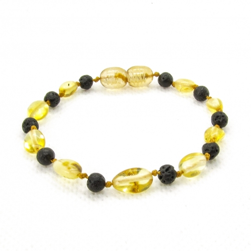 Amber & Lava Bracelet 5044