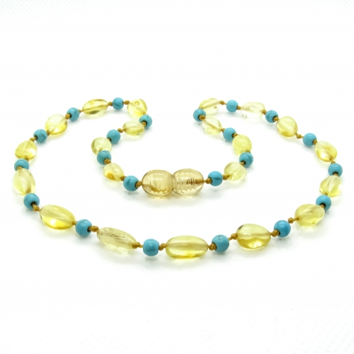 Amber & Turquoises Necklace 305