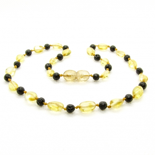 Amber & Lava Necklace 289