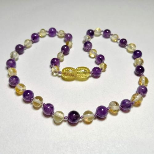 lemon + purple amethyst