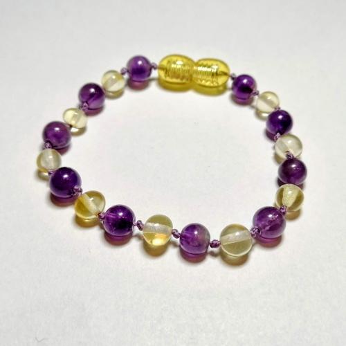 purple amethyst + lemon