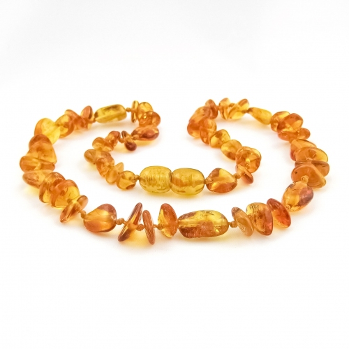 Amber Teething Necklace TNMuP002