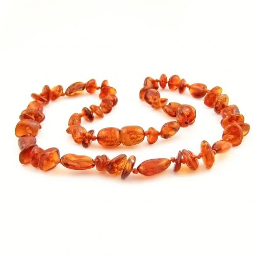 Amber Teething Necklace TNMuP003